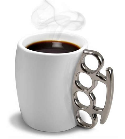coffee mug handle fisticup coffee mug with brass knuckle handle neatorama