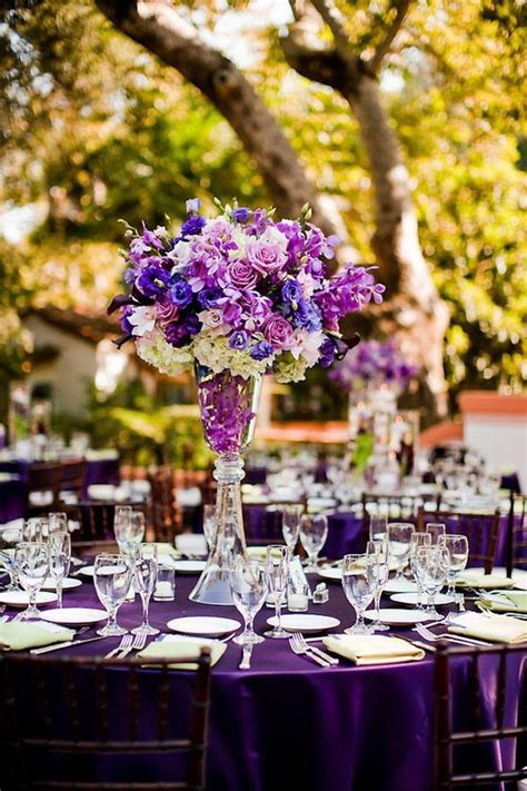 wedding reception table decorations purple 37 trendy purple wedding table decorations table