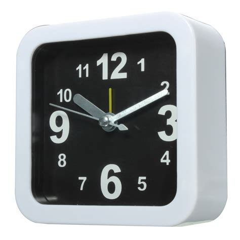 bedroom clocks white mini travel alarm clocks quartz alarm beep bedside clock home bedroom office desk decor