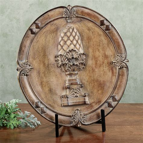 anaya decorative charger plate with stand