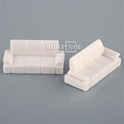 sofa toy white plastic sofa set model 1 50 o scale dolls house