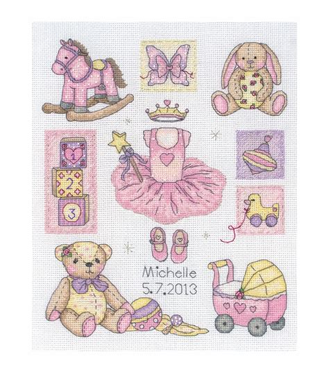 Cross Stitch Birth Records Maia Counted Cross Stitch Kit Birth Record Jo