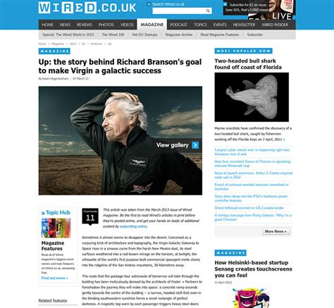web design article layout designing the new fully responsive wired co uk article