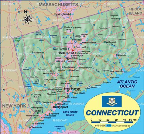 us map connecticut map of connecticut united states usa map in the atlas