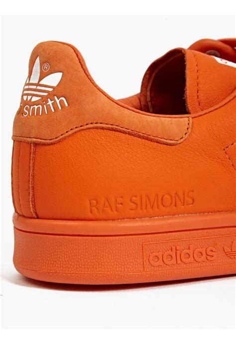 orange sneakers mens adidas by raf simons stan smith sneakers in orange for