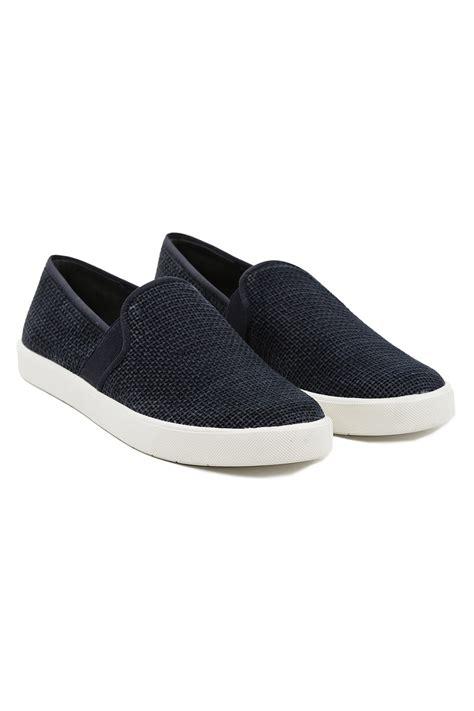vince slip on sneakers sale vince slip on sneakers navy in blue navy lyst