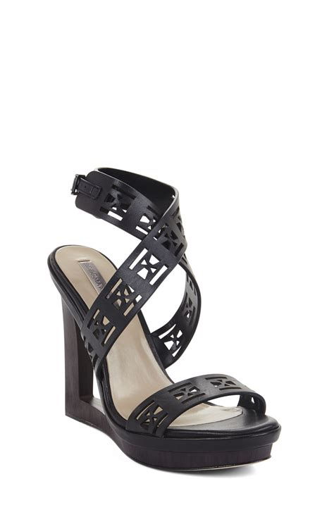 mazey laser cut wedge day sandal