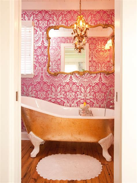 Pink And Gold Bathroom » Home Design 2017