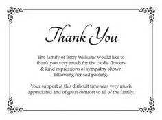 free memorial thank you card template 16 best funeral thank you card images on