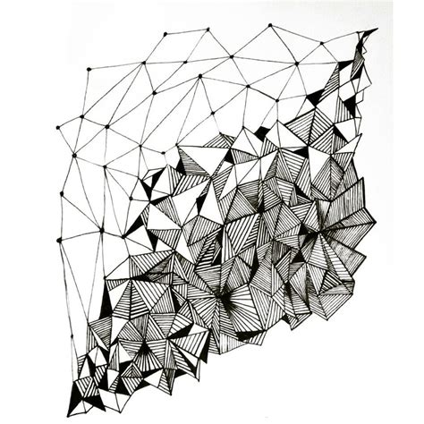 black pattern sketch geometry pattern design by annacolt on deviantart