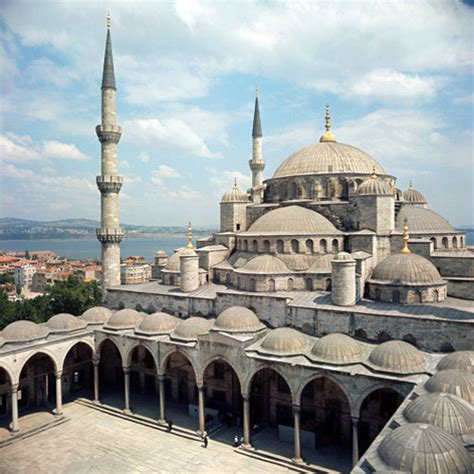 ottoman mosque architecture turkey istanbul the sultan ahmed mosque or blue mosque