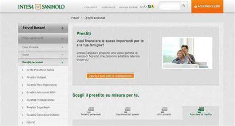 Banca Intesa Finanziamenti by Prestiti Banca Intesa Missione Prestito