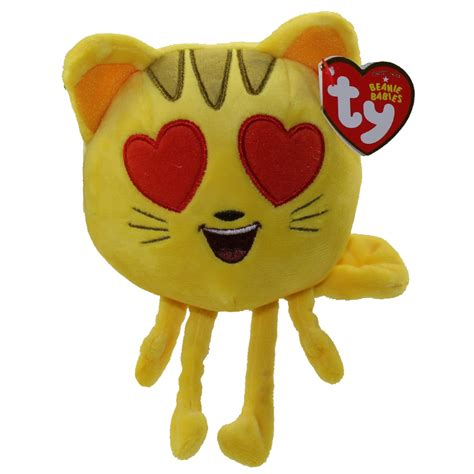 heart film emoji ty beanie baby the emoji movie cat heart eye 6 inch