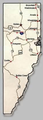 jefferson county colorado map overview of jefferson county bike jeffco