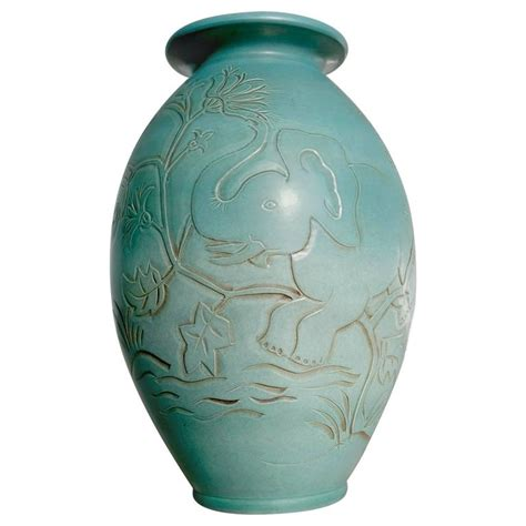 Elephant Vase Ceramic by Large Ceramic Vase With Elephant Design By Folmer Gross