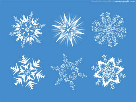 set of snowflakes psdgraphics