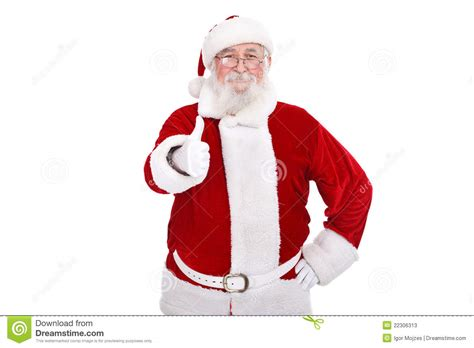 santa claus thumbs up santa claus with thumb up stock photos image 22306313
