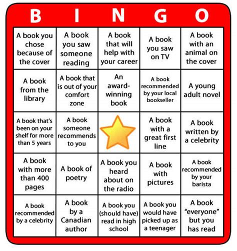 printable reading games for adults reading bingo for 2013 huffpost