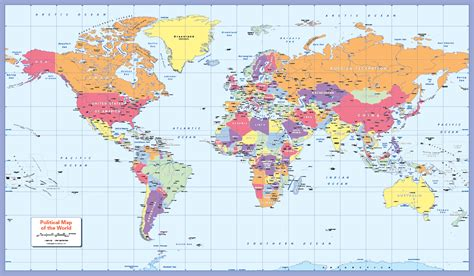 large world map colour blind friendly political world map large 163 18 99 cosmographics ltd