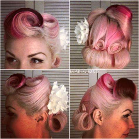 how to pin up hair how to rockabilly roll hairstyle tutorial 40s 50s pinup