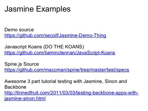 Javascript Koans Tutorial | intro to testing javascript with jasmine