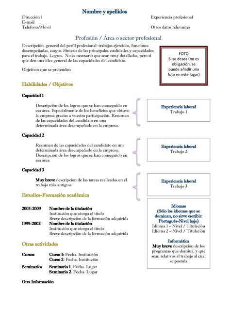 Plantilla Curriculum De Trabajo Complete Resume Sle Resume Class Warehouse Resume Objective Health Care Resumes