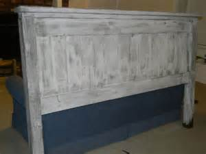 Distressed White Headboard by White Washed Lightly Distressed King Headboard Project