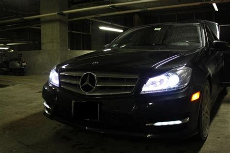 Headl Mercedes C 250 Hid 2012 13 sypder chrome hid projector headlights for black