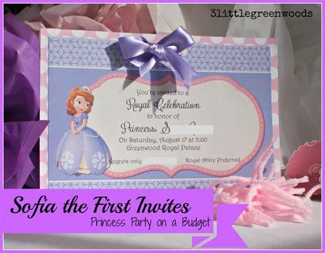 sofia the free invitation templates sofia the birthday invites