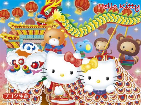 hello kitty wallpaper japan hello kitty sanrio wallpaper chinese new year kung