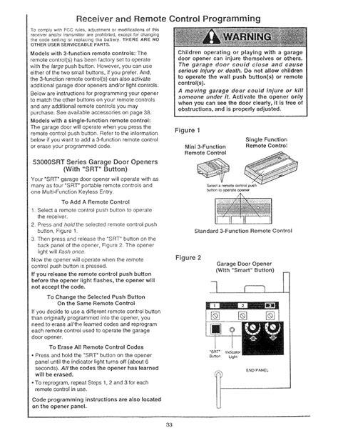 craftsman garage door opener programming receiver and remote control programming