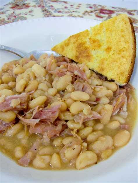 Campbell Kitchen Recipe Ideas slow cooker ham and beans recipe dishmaps