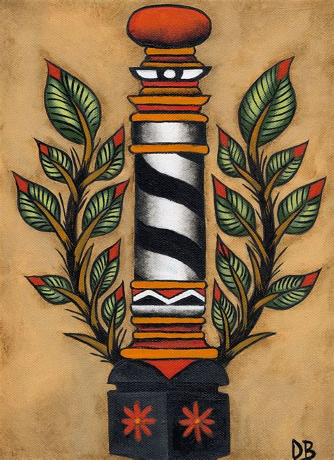 barber tattoo barber pole style pt vi ink