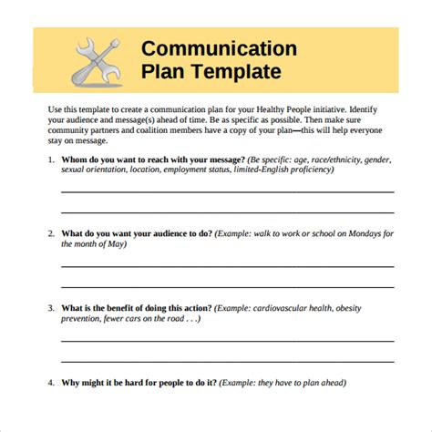 marketing communications plan template pdf communication plan exle hallway conversations 13 14