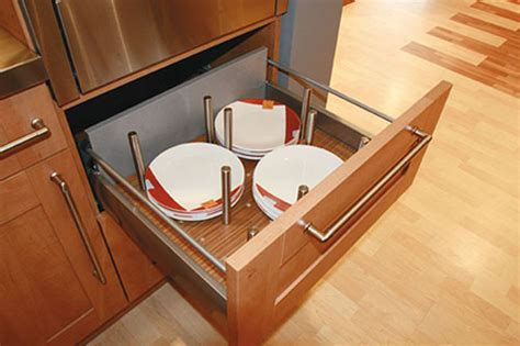 Kitchen Drawer Inserts For Plates by Esete Plate Holder For Blum Tandem Walnut Veneer With