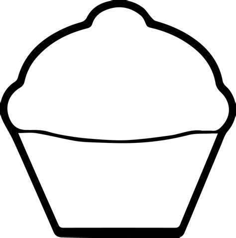 Galerry simple cupcake coloring page