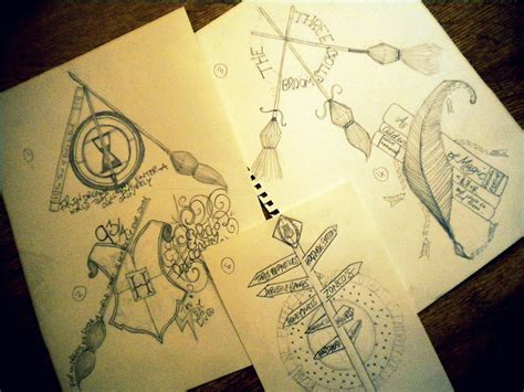 harry potter designs yeah harry potter tattoos