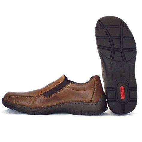 rieker noel 05364 26 mens slip on shoe in brown leather