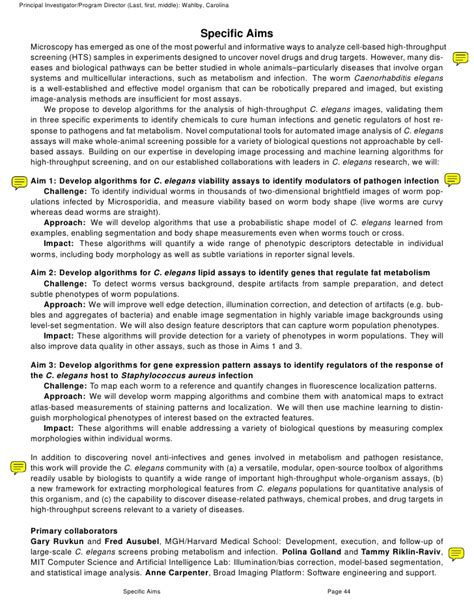 nih grant sections specific aims nih sle grant proposal