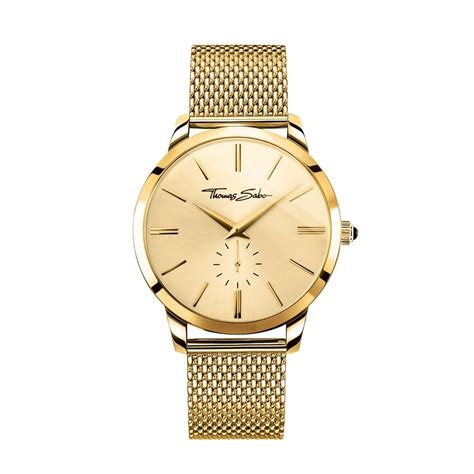 sabo mens yellow gold coloured stainless steel