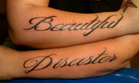 beautiful disaster tattoo beautiful disaster on my arms ideas