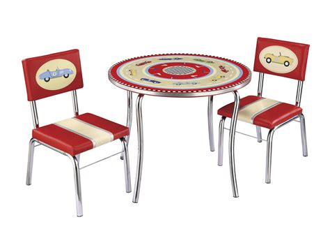 guidecraft retro racers table chairs set by oj commerce