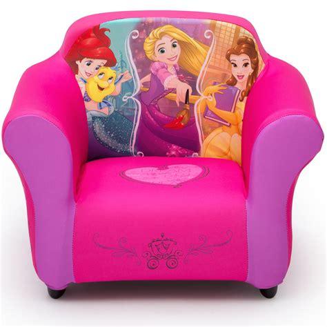 disney princess kids upholstered chair  sculpted