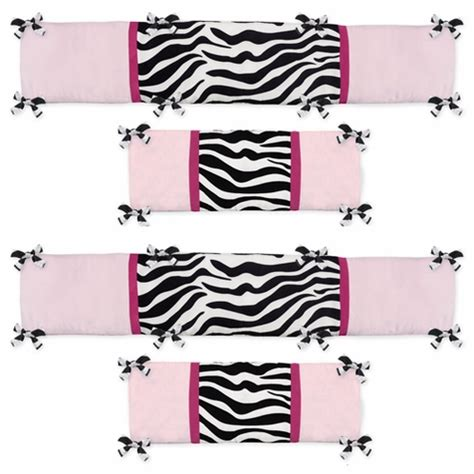 Zebra Bumper Pad For Crib by Pink And Black Funky Zebra Baby Crib Bumper Pad By Sweet Jojo Designs Only 45 99
