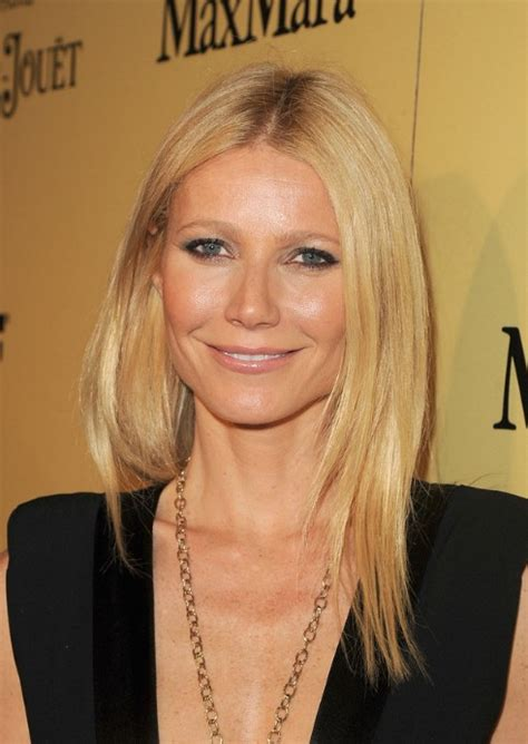 haircuts with middle part long middle part hairstyle from gwyneth paltrow