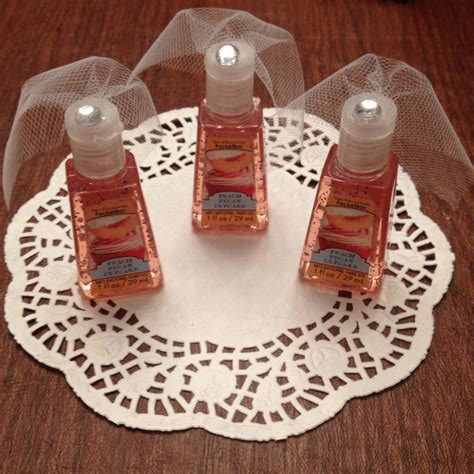 diy theme bridal shower favors sanitizer with tule veils for bridal shower favors so bridal shower ideas