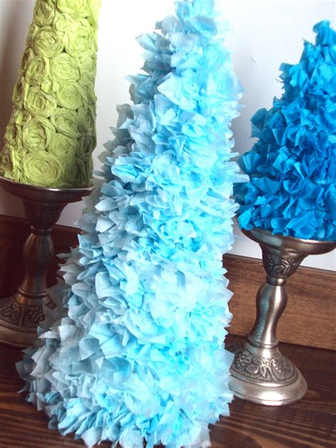 christmas tree tissue paper cone tree craft spunky tutorial tuesday tissue paper trees