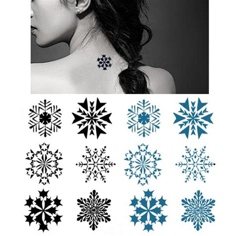 easy tattoo transfer buy temporary snowflake tattoo transfer body art sticker