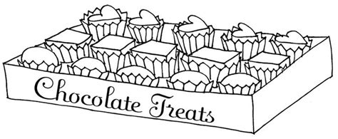 a box of chocolate heart coloring page chocolate