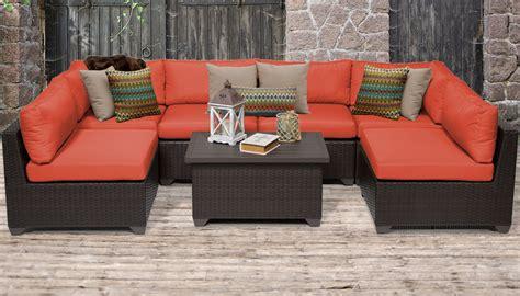 belle  piece outdoor wicker patio furniture set